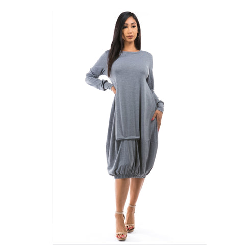 Belinda Bubble Drape Dress