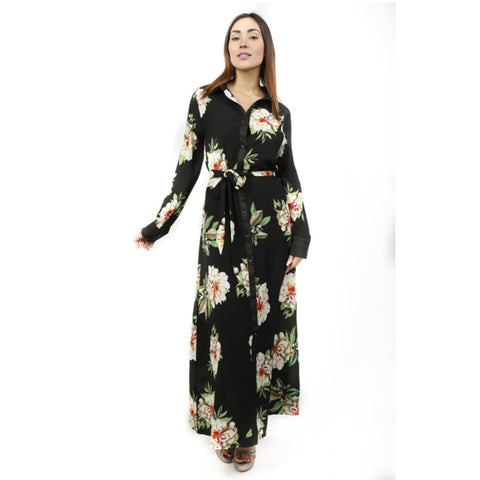 Big Flower Button Maxi