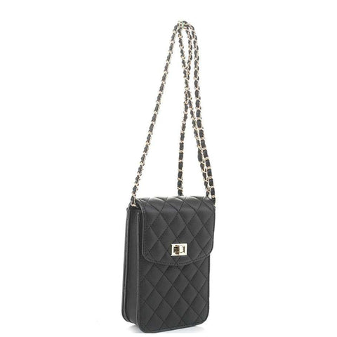 Quilted Pleather Crossbody Bag