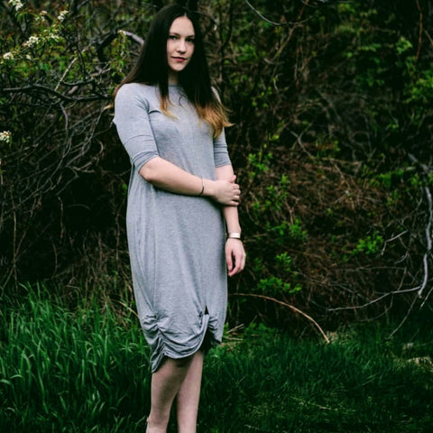 Fabia Dress: Heather Grey