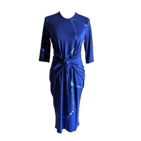 Royal Blue Boho Dress: Kintsugi Collection