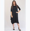 Georgiana Dress -Solid Black - The Mimi Boutique