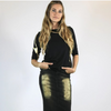 Jean Skirt Kintsugi: Metallic Gold