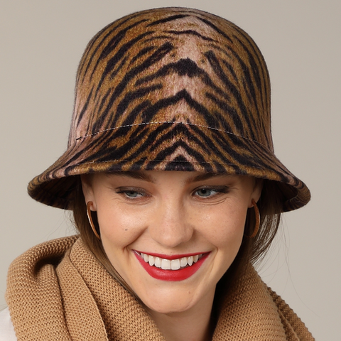 Tiger  Bucket Hat - The Mimi Boutique