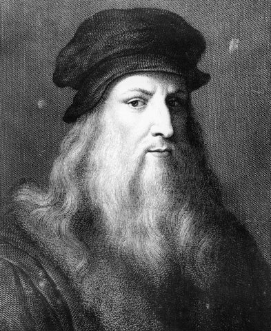 Portrait of Leonardo Da Vinci - Great Inventor in History