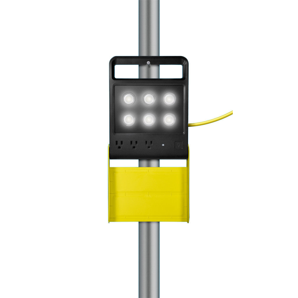 portable led light stand on pole - Quirky