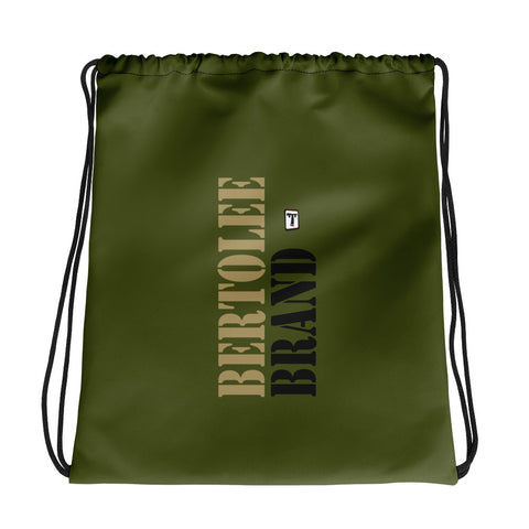 Army Green Drawstring bag, BAGS, Bertolee Brand