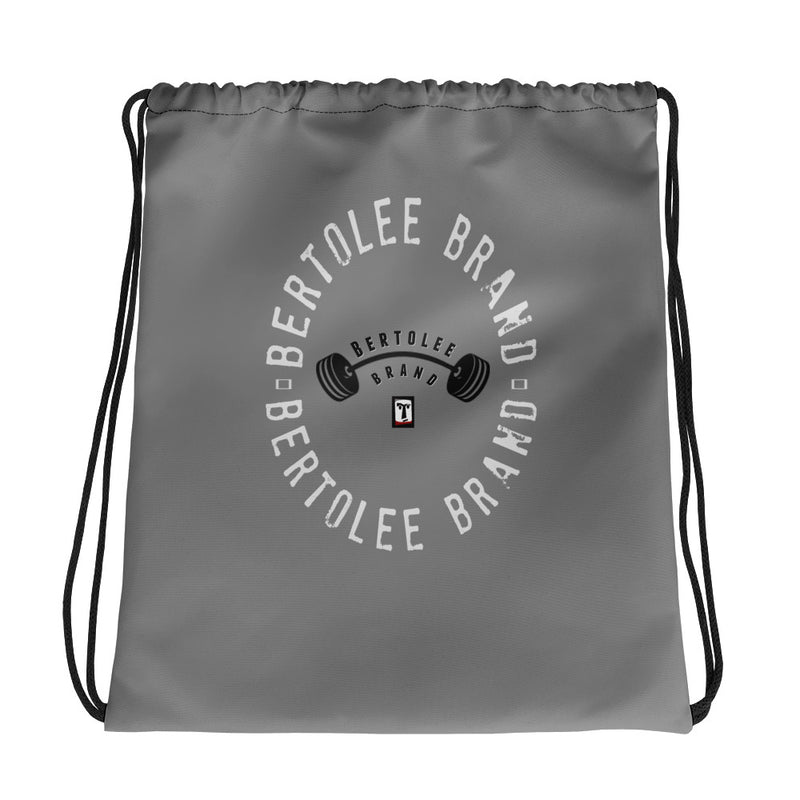 Grey Fitness Carry-All Drawstring bag, BAGS, Bertolee Brand
