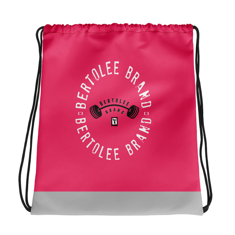 Pink Fitness Carry-All Drawstring bag, BAGS, Bertolee Brand