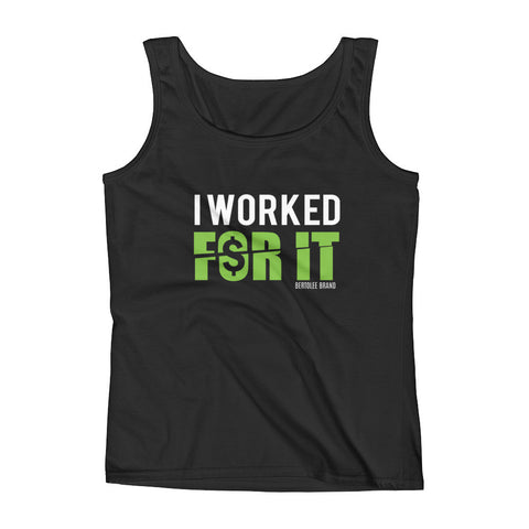 Women's I Worked For It Tank Top, SHIRTS, Bertolee Brand