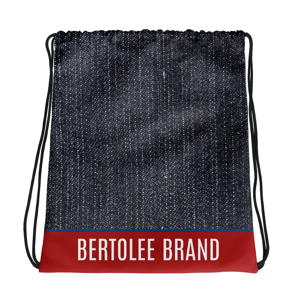 Denim Print Carry-All Drawstring bag, BAGS, Bertolee Brand
