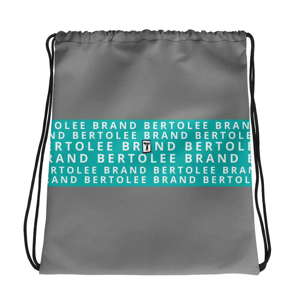 Teal Blue Bertolee Carry-All Drawstring bag, BAGS, Bertolee Brand