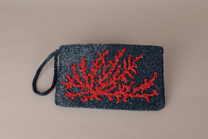 Clutch print chaquira