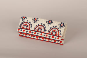 Clutch folder chaquira print