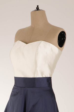 Crop top strapless tafeta