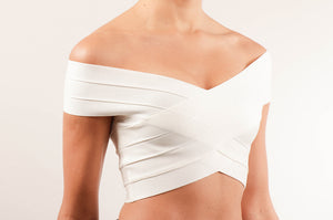 Crop top cruzado bandage