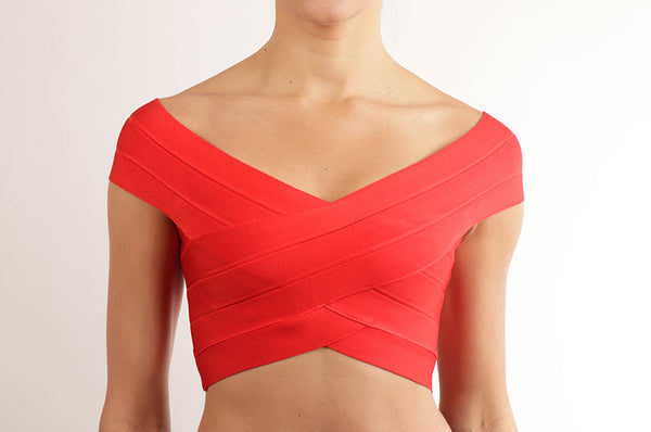 Crop top bandage cruzado