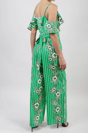 Jumpsuit ruffled print