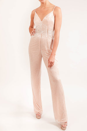 Jumpsuit bordado con flecos