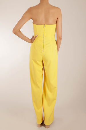 Jumpsuit strapless cropped