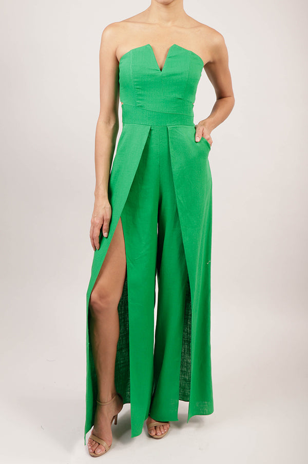 Jumpsuit strapless lino