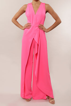 Jumpsuit v satin