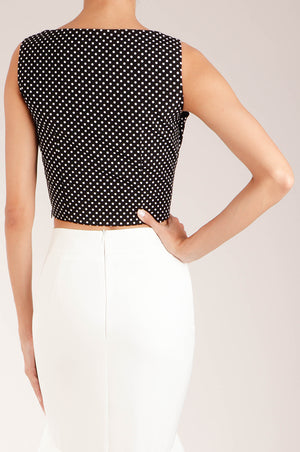 Top v tirantes  polka dots