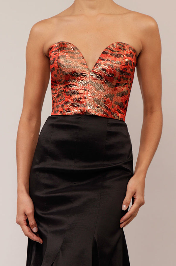 Crop top strapless print