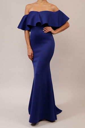 Vestido off the shoulder sirena