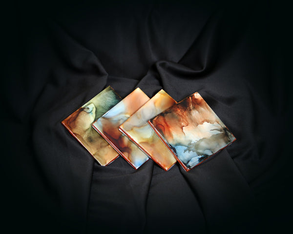 Alcohol Ink Painted Coasters