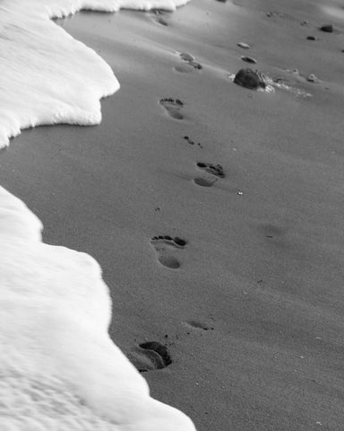 Footprints in the sand, Photography Art.