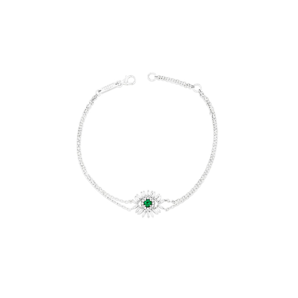 MINI EMERALD EVIL EYE BRACELET