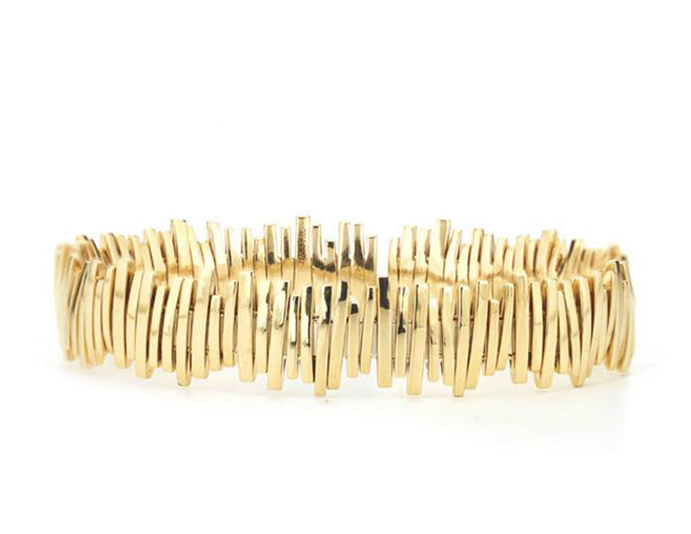 18K YELLOW GOLD SPARKLER BANGLE