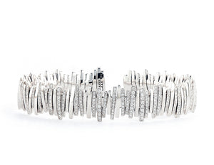 18K WHITE GOLD PAVE DIAMOND BANGLE