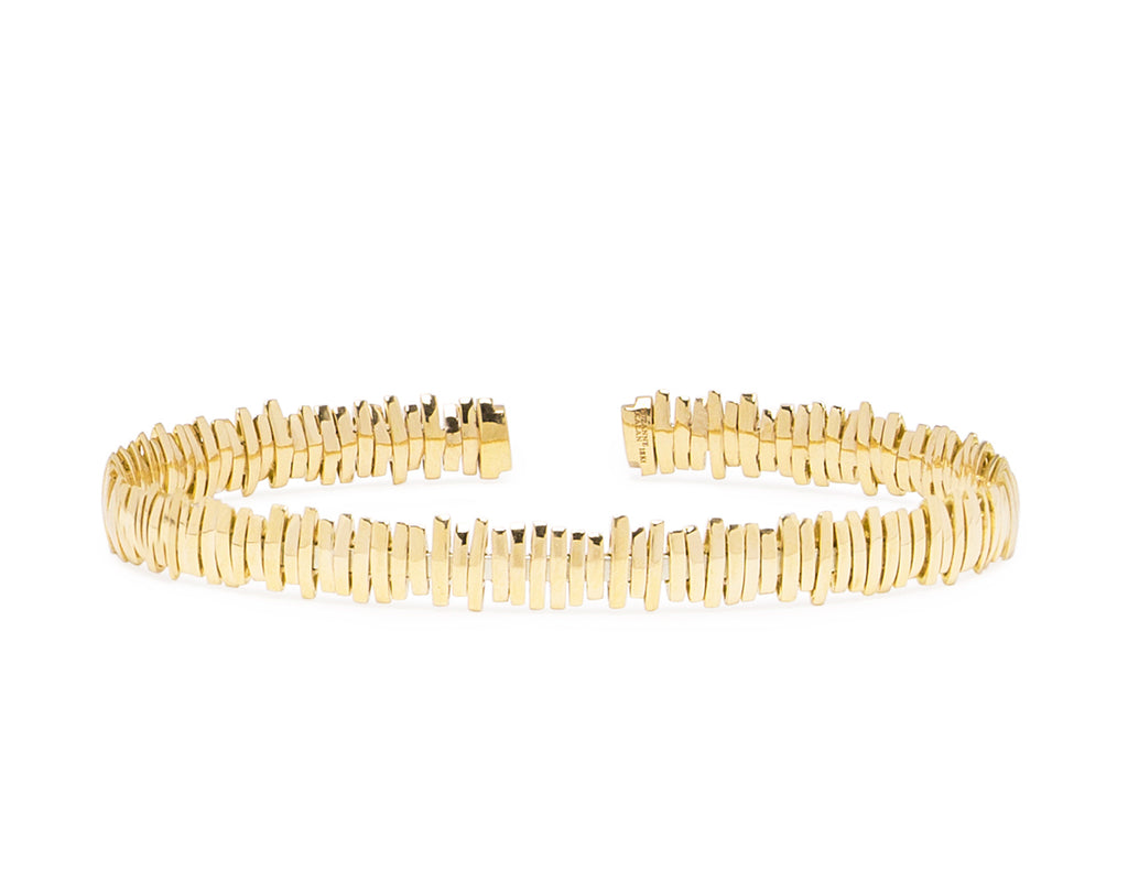 18K YELLOW GOLD SPARKS BANGLE