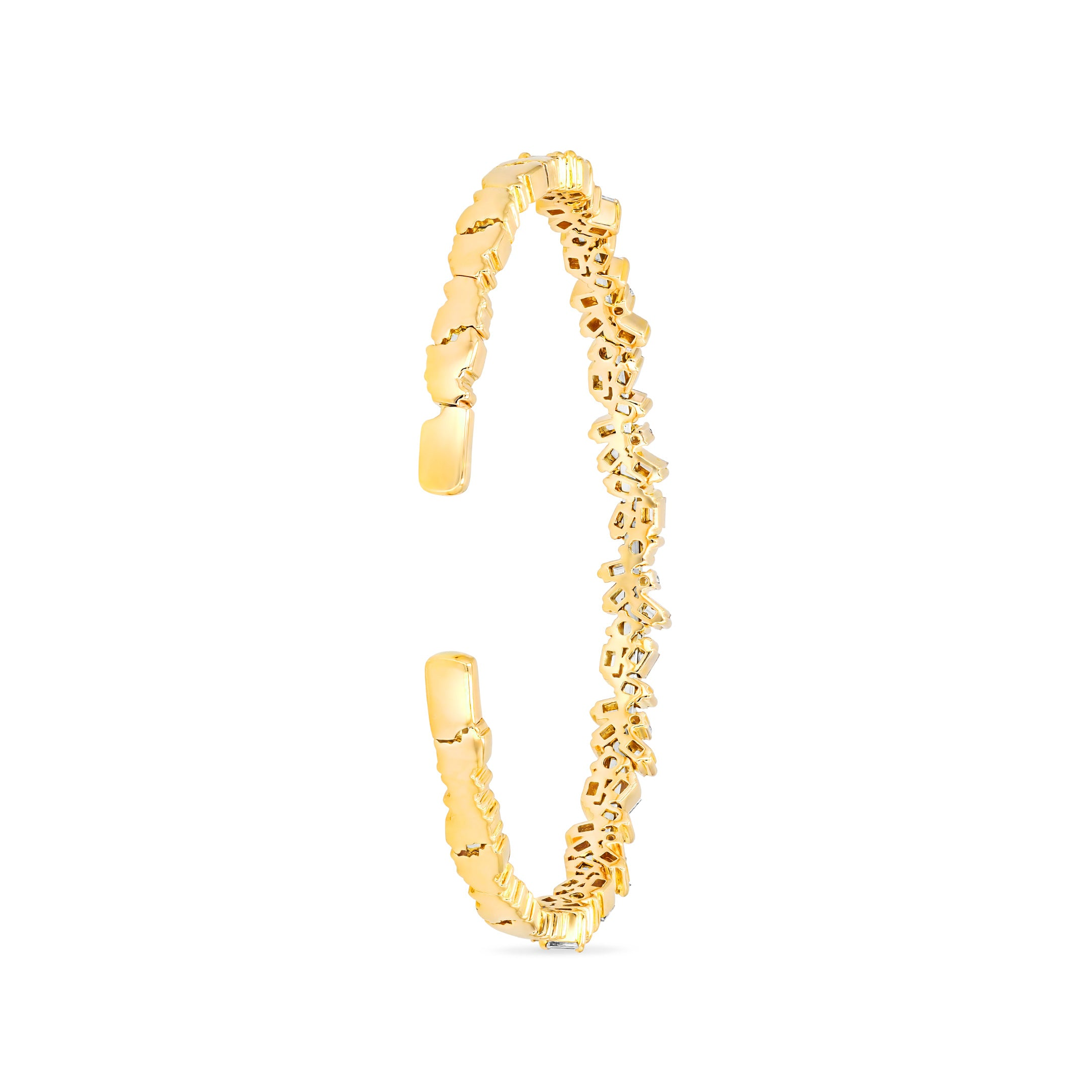 18K YELLOW GOLD FIREWORKS SPARKLER BANGLE
