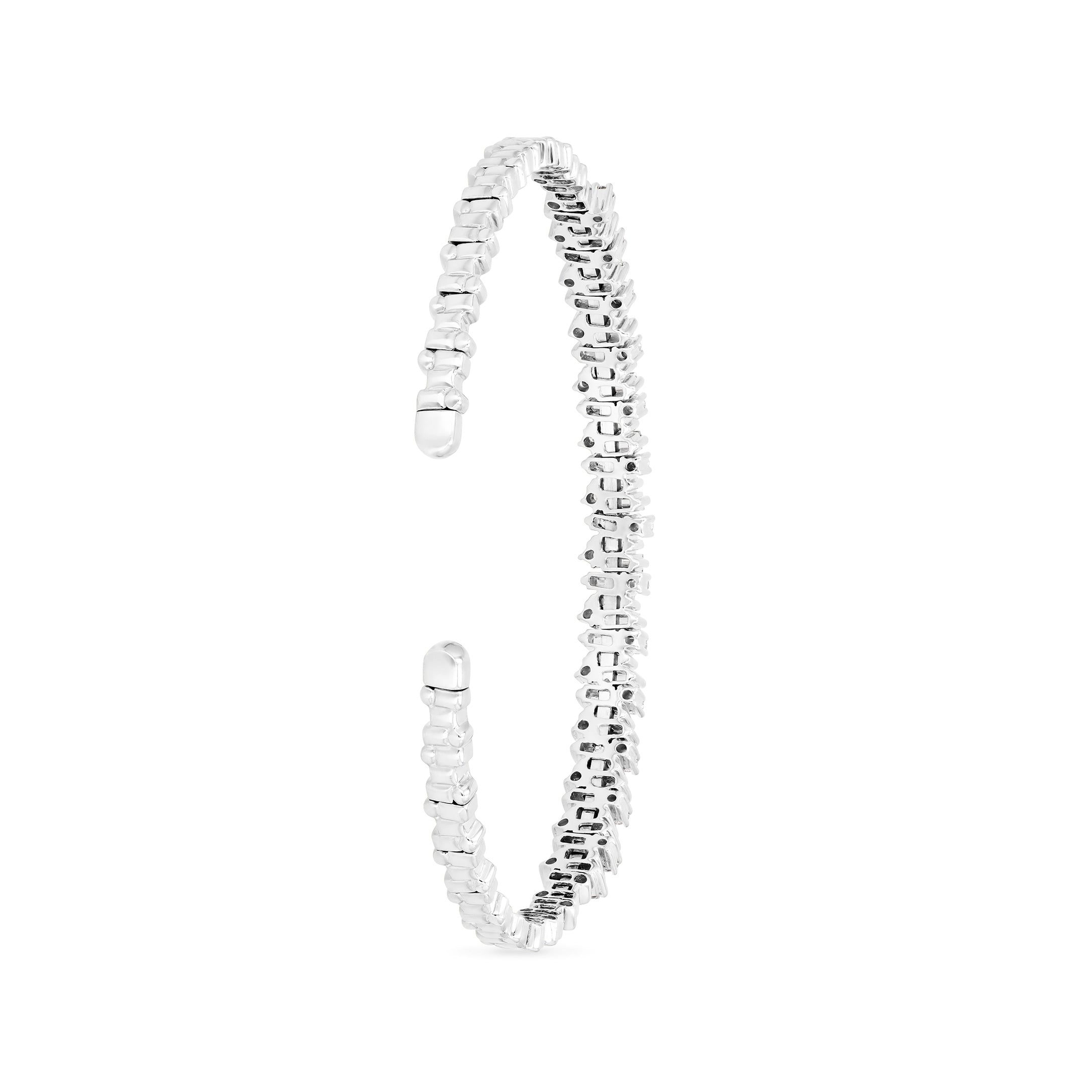 18K WHITE GOLD SHIMMER BANGLE