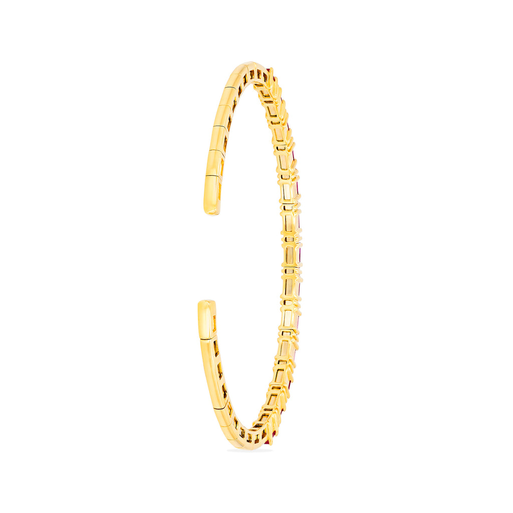 RUBY HORIZONTAL BAGUETTE BANGLE