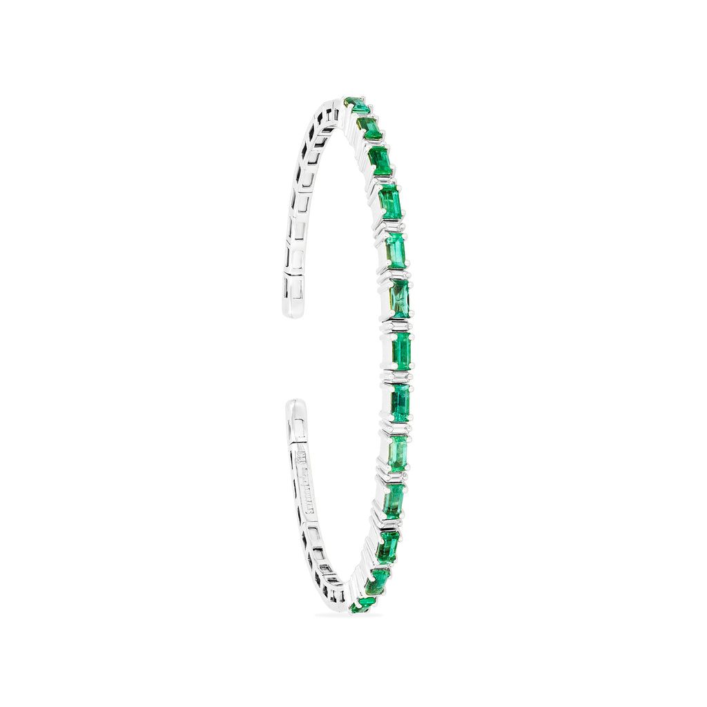 FIREWORKS EMERALD HORIZONTAL  BANGLE