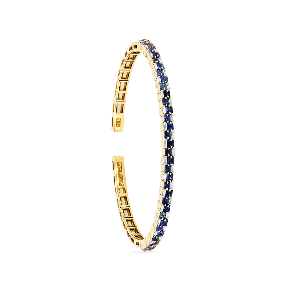 BLUE SAPPHIRE STACKED BANGLE