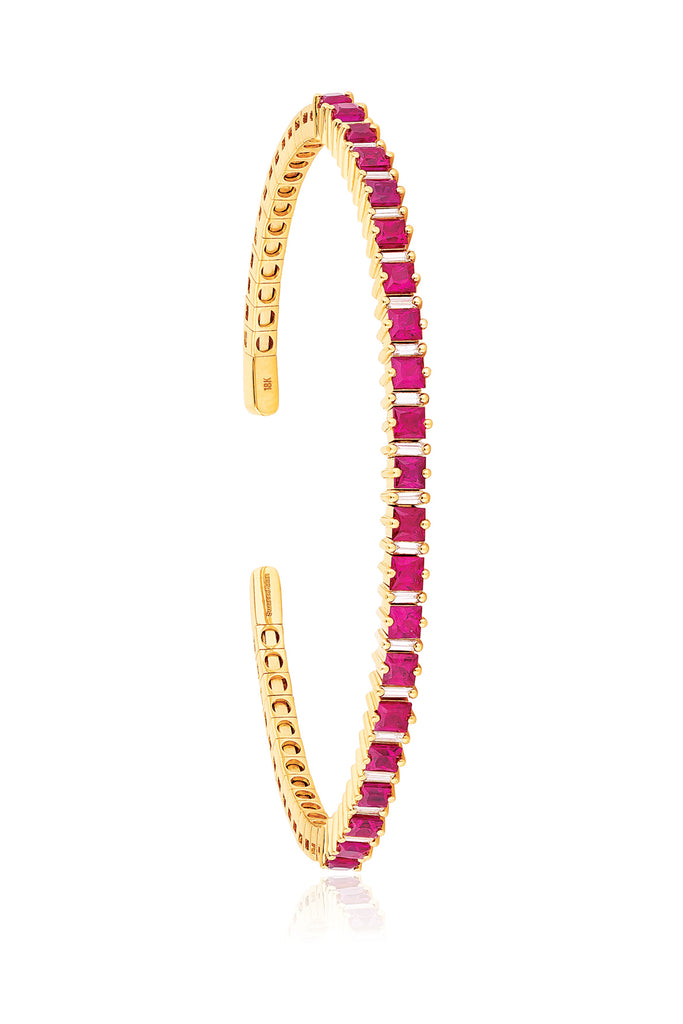 RUBY PRINCESS-CUT BANGLE
