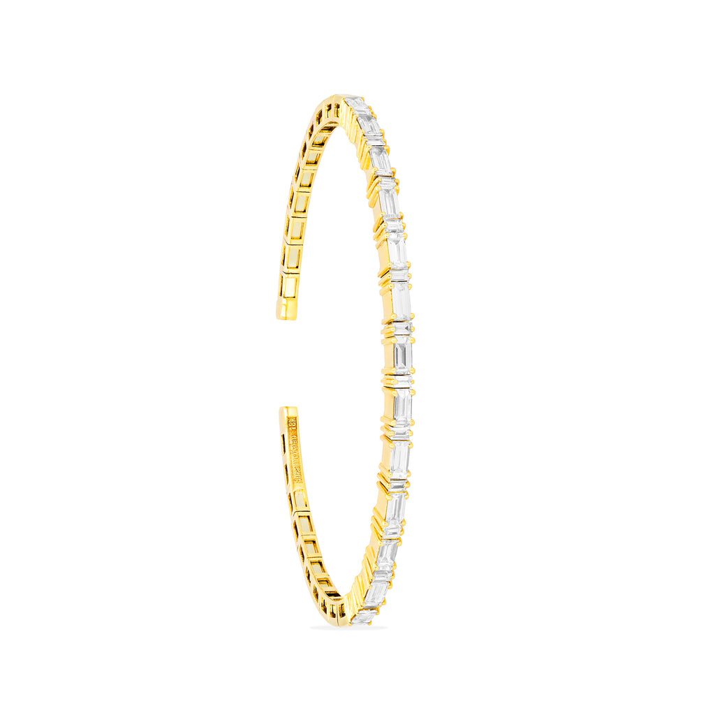 HORIZONTAL DIAMOND BANGLE