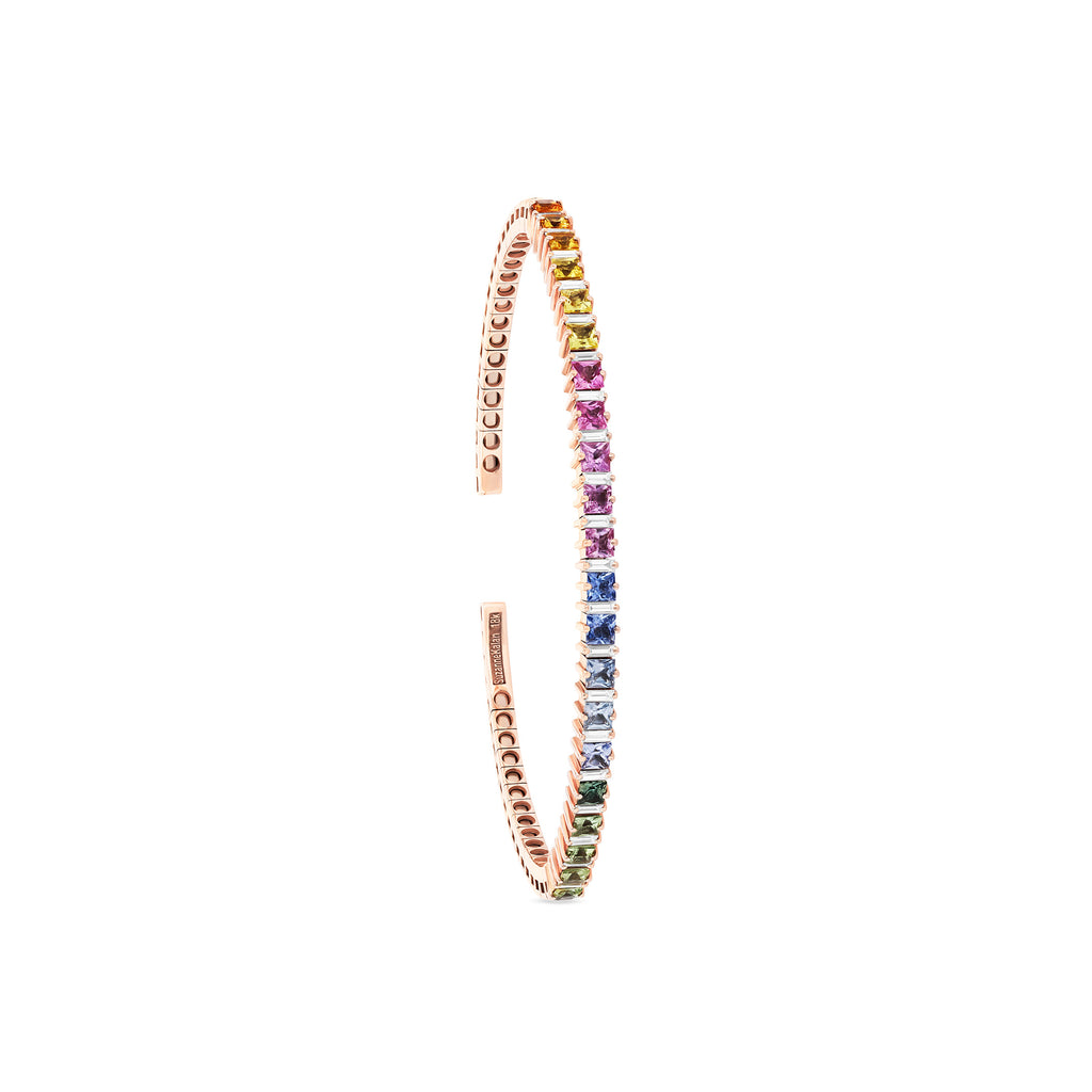 PASTEL SAPPHIRE PRINCESS-CUT BANGLE