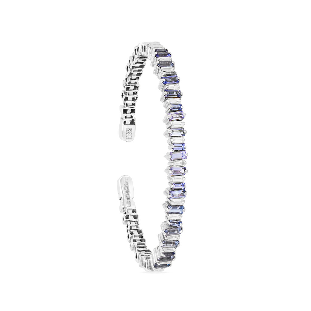 FIREWORKS LIGHT BLUE SAPPHIRE BAGUETTE BANGLE