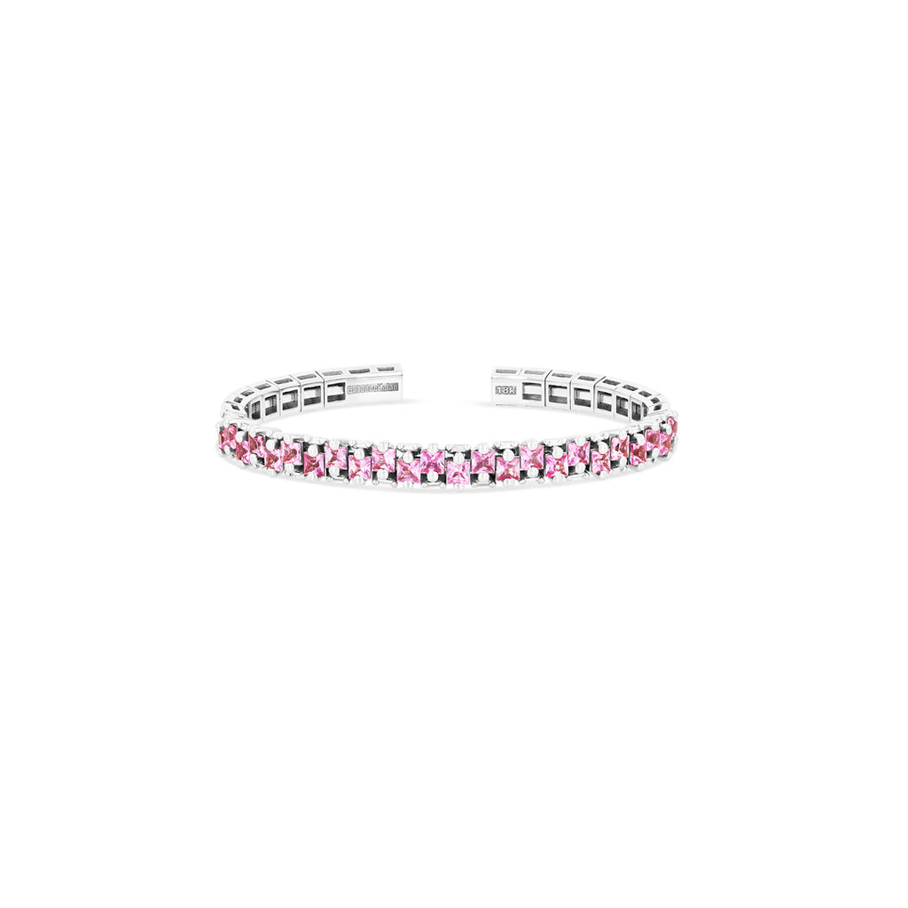 SIENNE PINK SAPPHIRE BANGLE