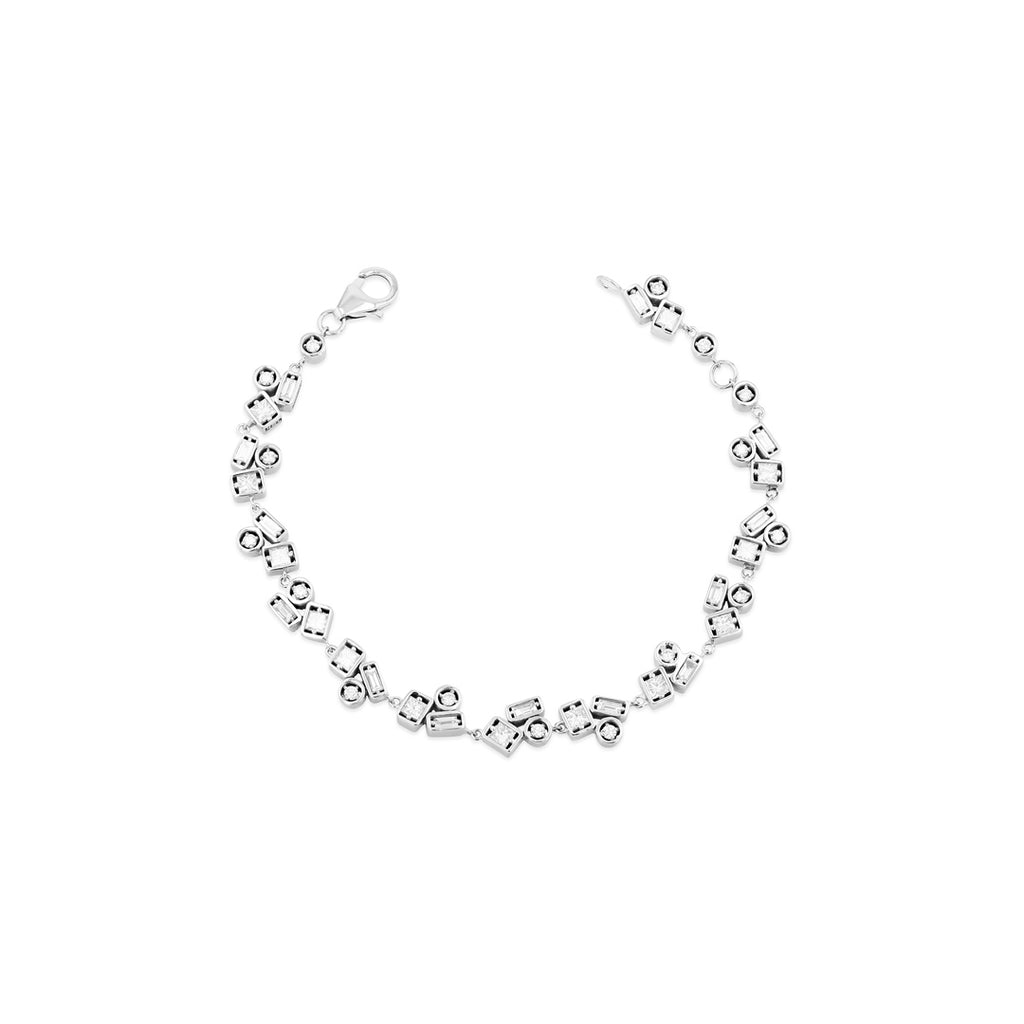Inlay White Diamond Bracelet