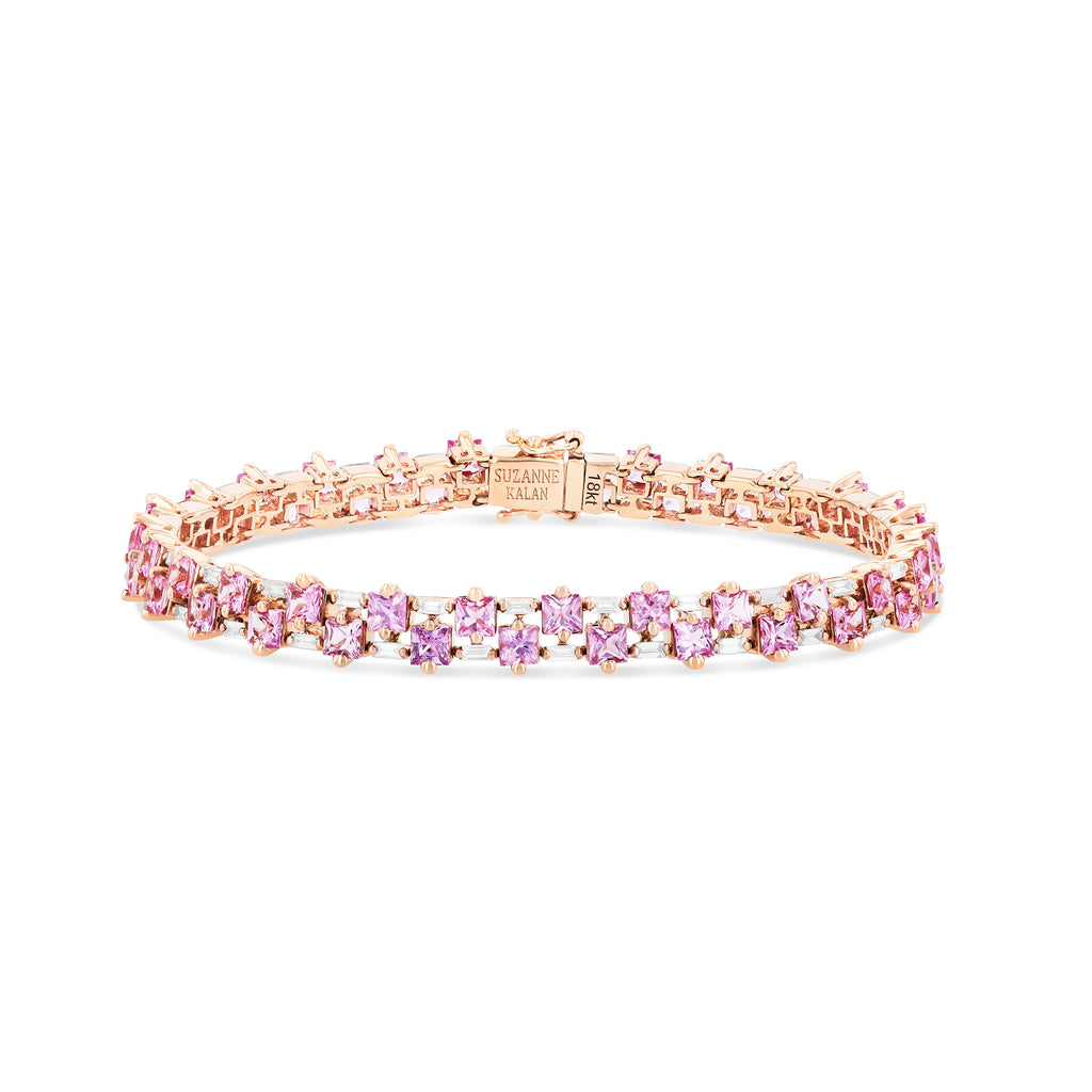 COLETTE PRINCESS CUT TENNIS BRACELET