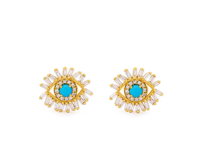 Eyes Wide Open Post Earrings
