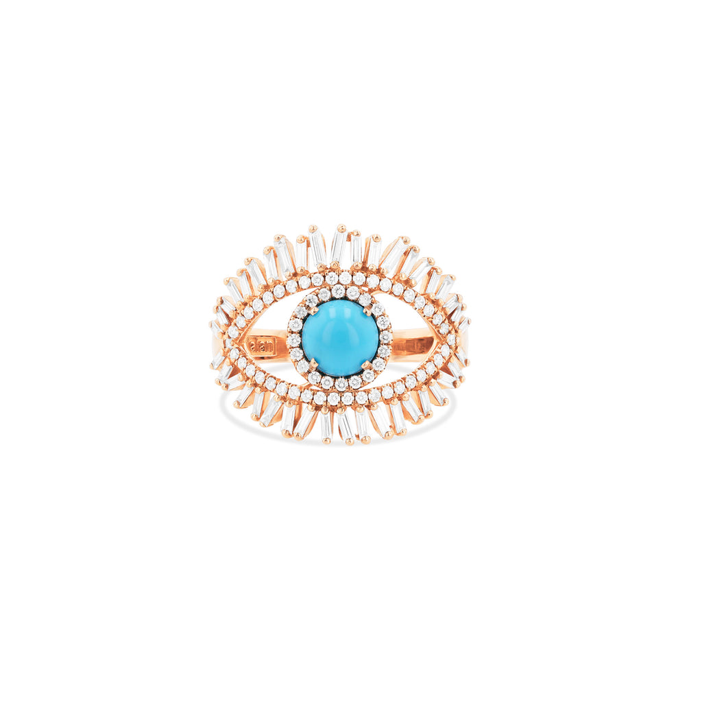 LARGE EVIL EYE FIREWORKS RING
