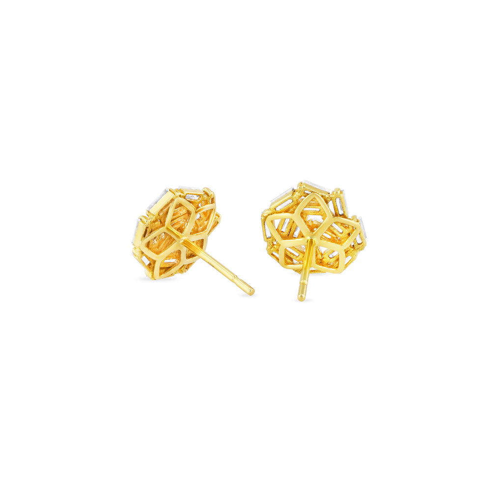 CLASSIC 10MM ROUND FIREWORKS STUD EARRINGS